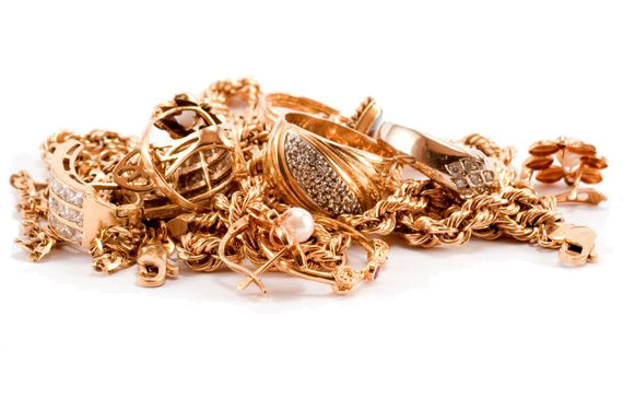 pile of scrap gold for sale to gold buyer